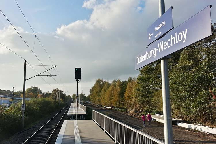 Die Eröffnung des Haltepunkts Wechloy soll jetzt im Juni stattfinden.