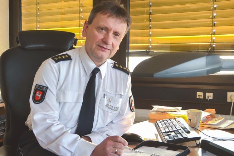 Eckhard Wache, Leitender Polizeidirektor der Polizeiinspektion Oldenburg / Ammerland, stellt fest, dass sich die Sicherheitslage in Oldenburg nicht verändert hat.