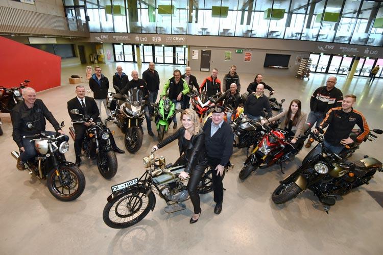 Knapp 60 Aussteller präsentieren die neuesten Modelle, aber auch Oldtimer werden auf der Motorrad-Messe in Oldenburg vogestellt.