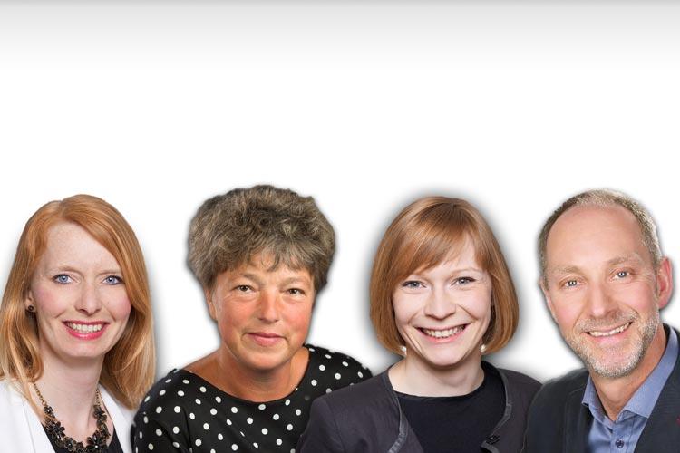 Angela Holz, Hanna Naber, Nicole Piechotta und Hilbert Schoe bewerben sich um die Landtagskandidatur bei der Oldenburger SPD.
